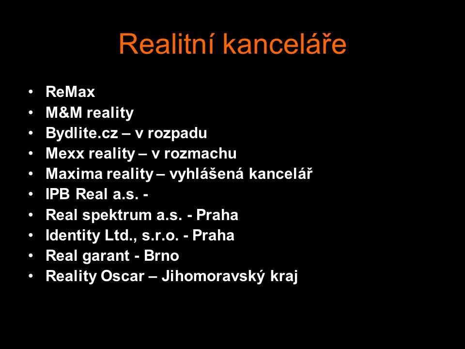 Realitní kanceláře ReMax M&M reality Bydlite.cz – v rozpadu
