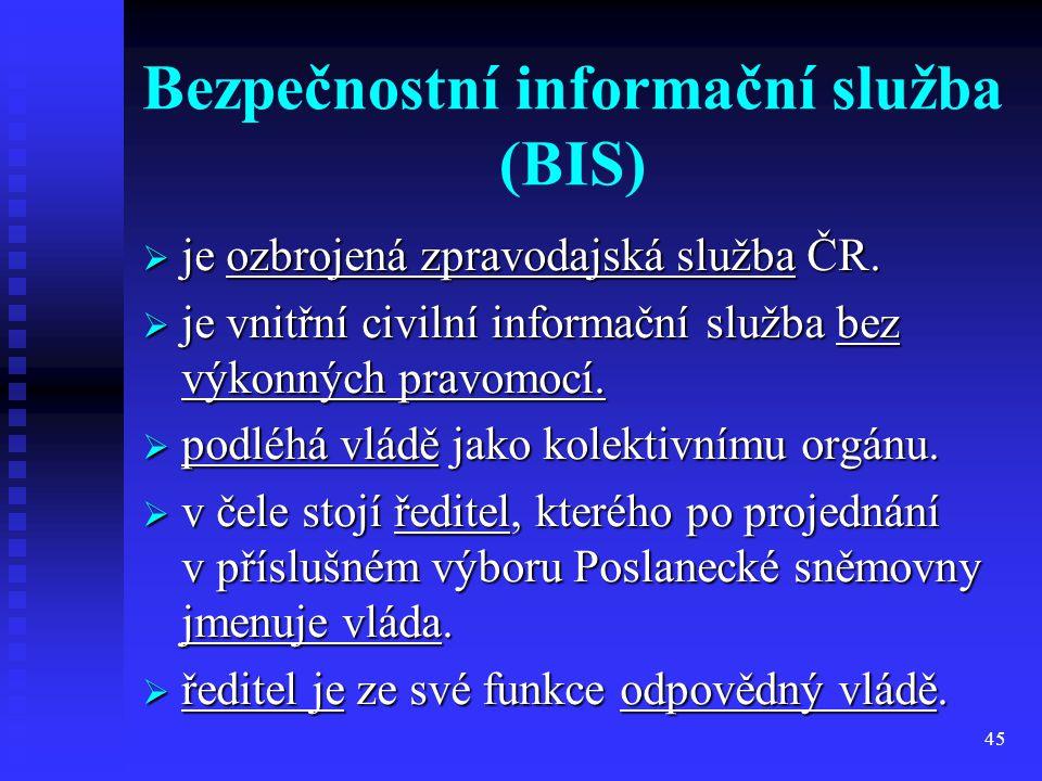 Bezpečnostní informační služba (BIS)