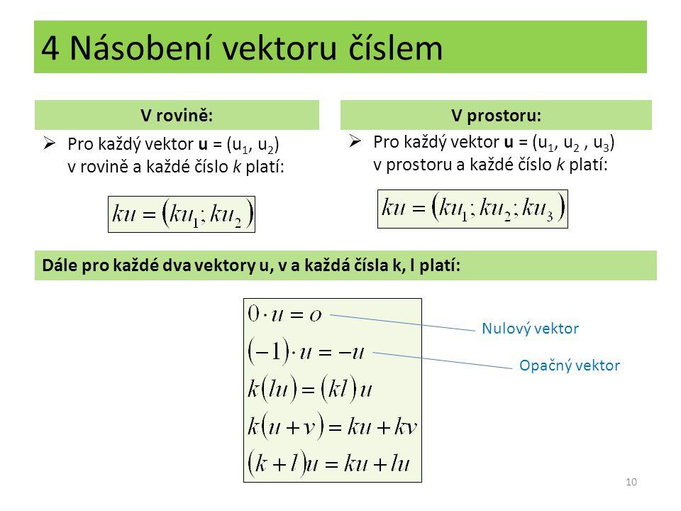 4 Násobení vektoru číslem