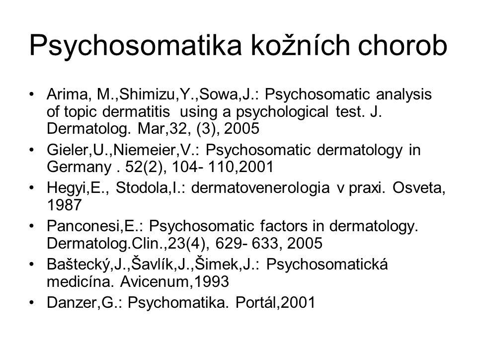 Psychosomatika kožních chorob