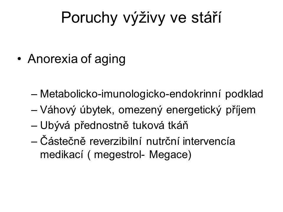 Poruchy výživy ve stáří