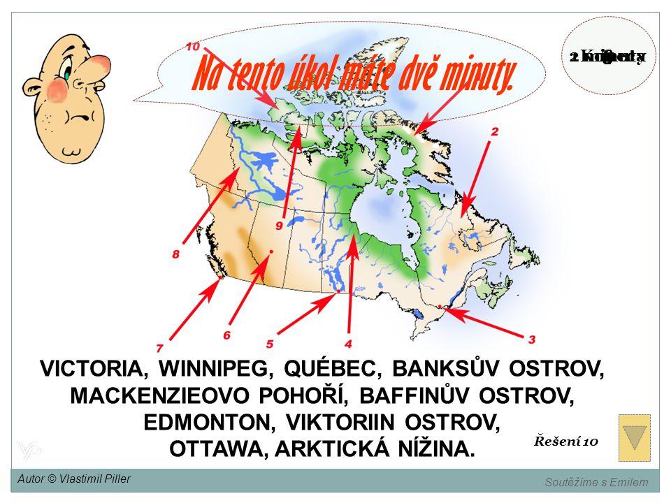 EDMONTON, VIKTORIIN OSTROV, OTTAWA, ARKTICKÁ NÍŽINA.