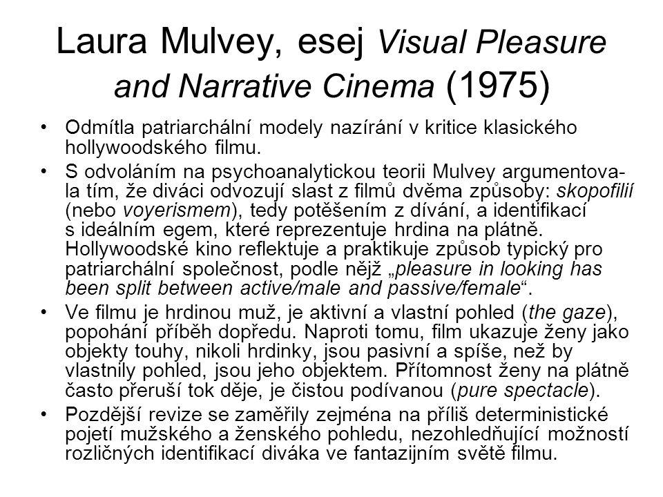 Laura Mulvey, esej Visual Pleasure and Narrative Cinema (1975)