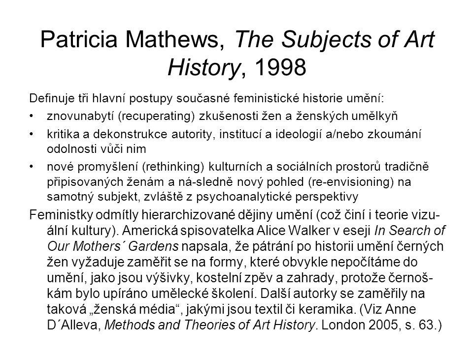 Patricia Mathews, The Subjects of Art History, 1998