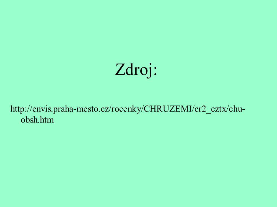 Zdroj: http://envis.praha-mesto.cz/rocenky/CHRUZEMI/cr2_cztx/chu-obsh.htm