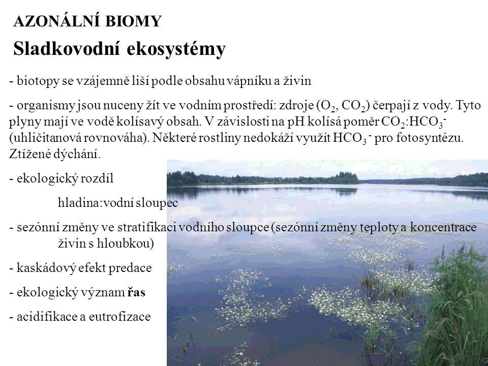 Sladkovodní ekosystémy