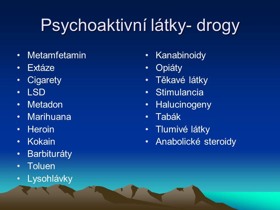 Psychoaktivní látky- drogy
