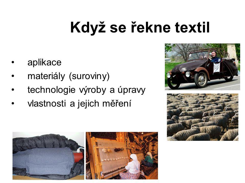 Když se řekne textil aplikace materiály (suroviny)