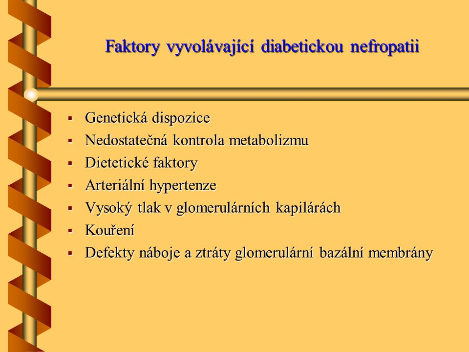 Faktory vyvolávající diabetickou nefropatii