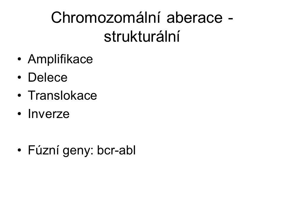 Chromozomální aberace - strukturální