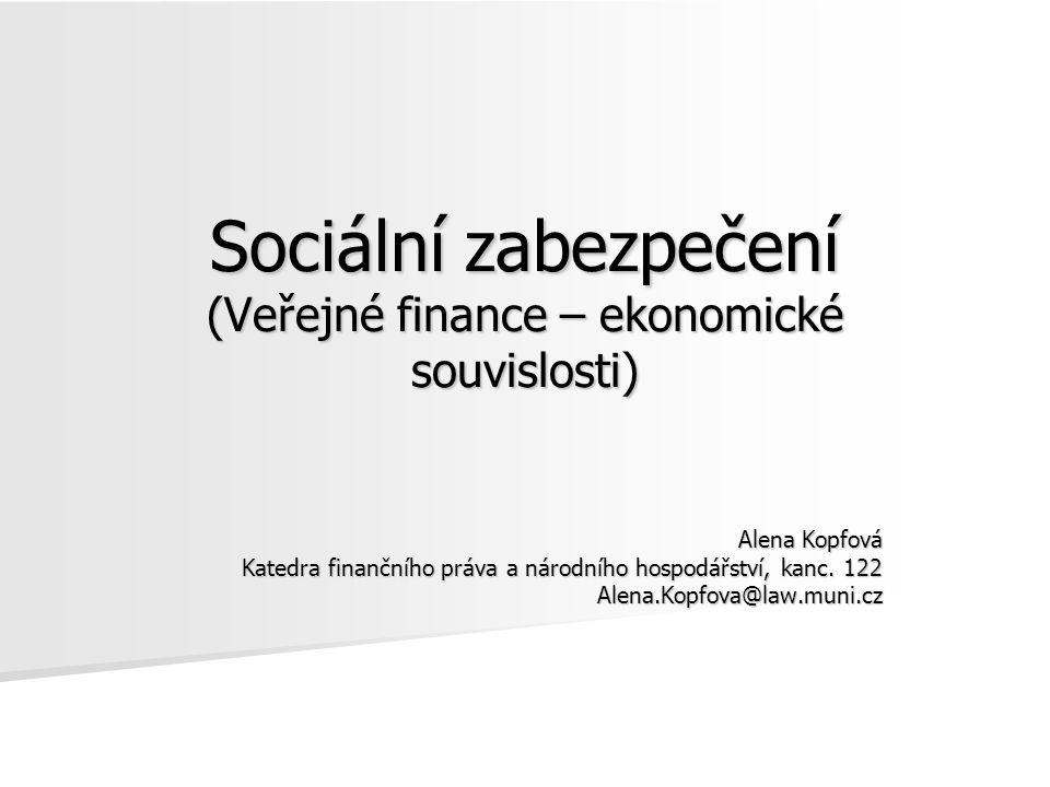 Sociální zabezpečení (Veřejné finance – ekonomické souvislosti)