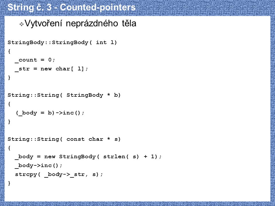 String č. 3 - Counted-pointers