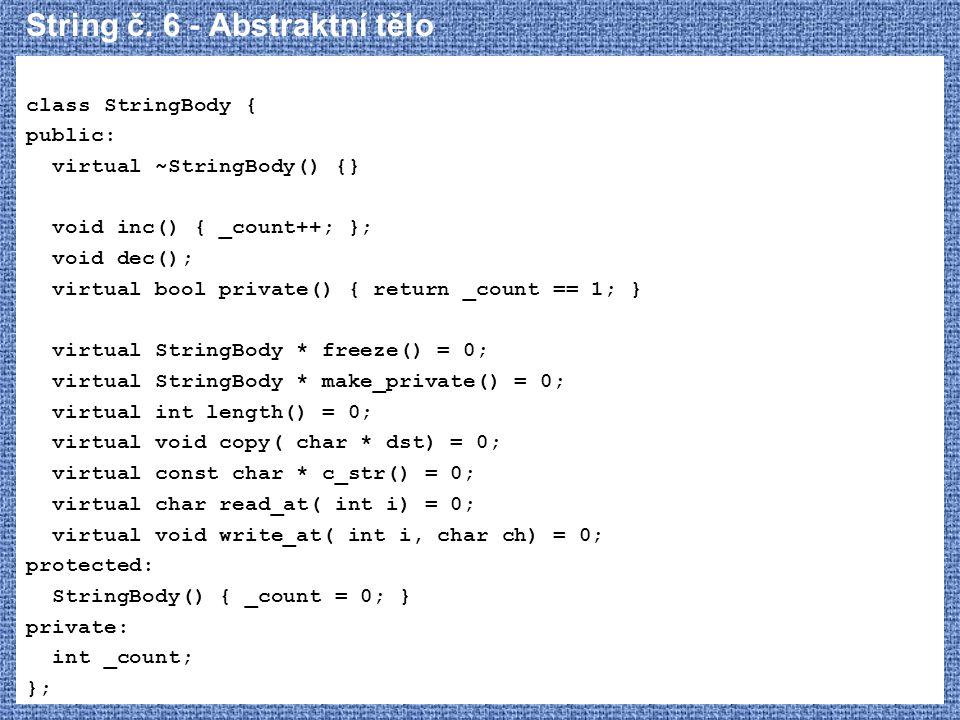 String č. 6 - Abstraktní tělo