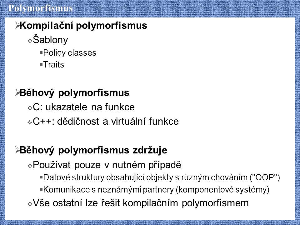 Kompilační polymorfismus Šablony