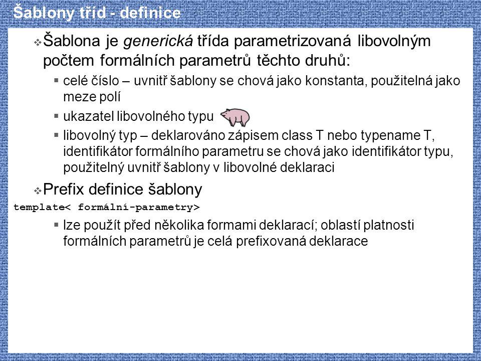 Šablony tříd - definice