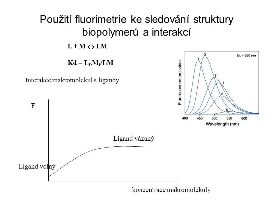 Použití fluorimetrie ke sledování struktury biopolymerů a interakcí