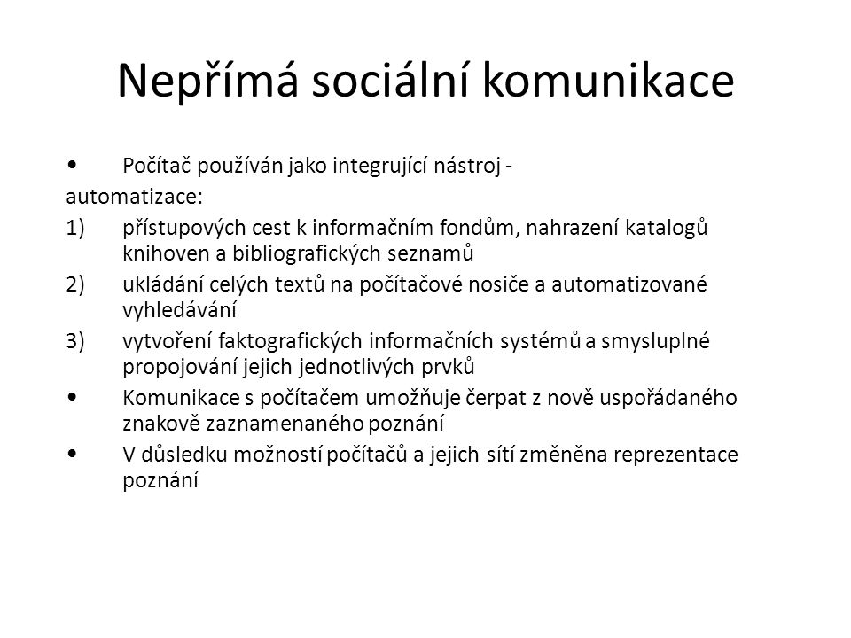 Nepřímá sociální komunikace