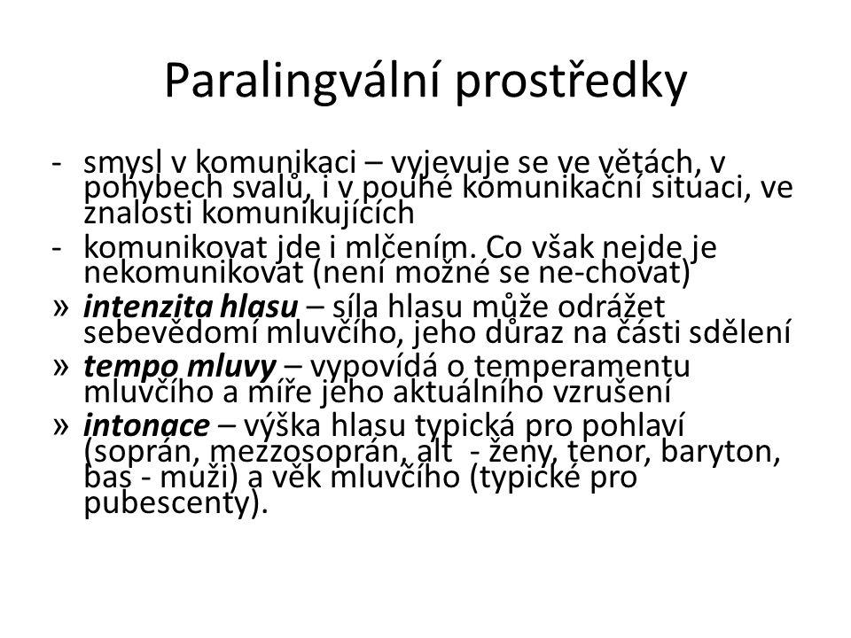 Paralingvální prostředky