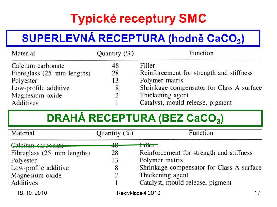 SUPERLEVNÁ RECEPTURA (hodně CaCO3) DRAHÁ RECEPTURA (BEZ CaCO3)