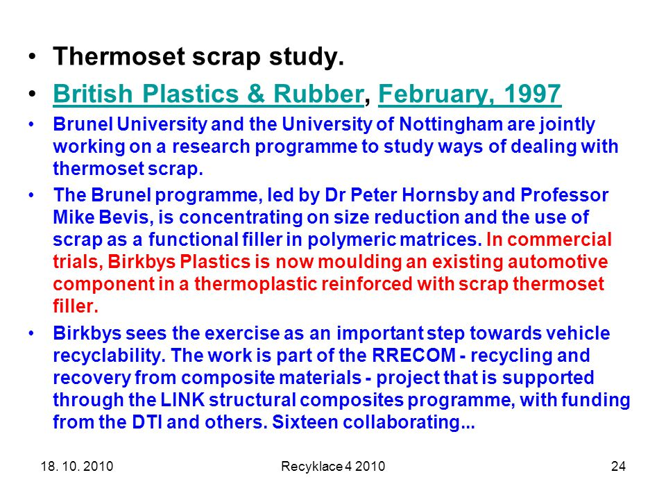 British Plastics & Rubber, February, 1997