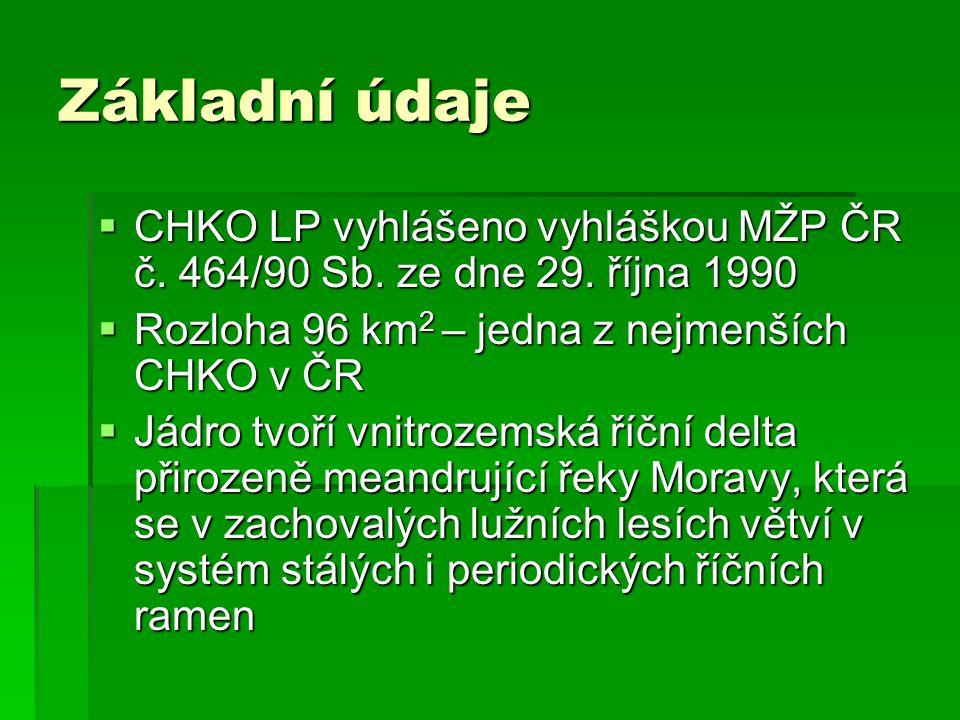 Základní údaje CHKO LP vyhlášeno vyhláškou MŽP ČR č. 464/90 Sb. ze dne 29. října 1990. Rozloha 96 km2 – jedna z nejmenších CHKO v ČR.