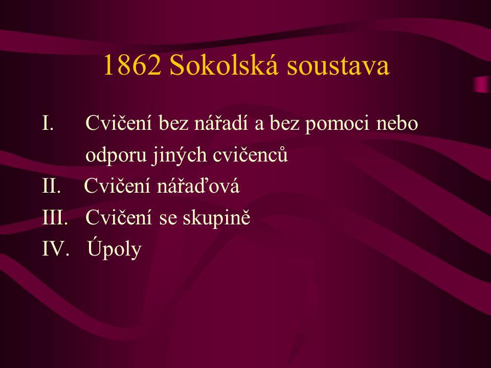 1862 Sokolská soustava Cvičení bez nářadí a bez pomoci nebo