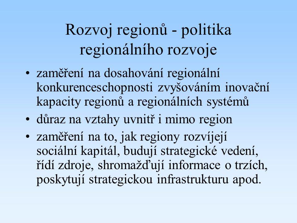Rozvoj regionů - politika regionálního rozvoje