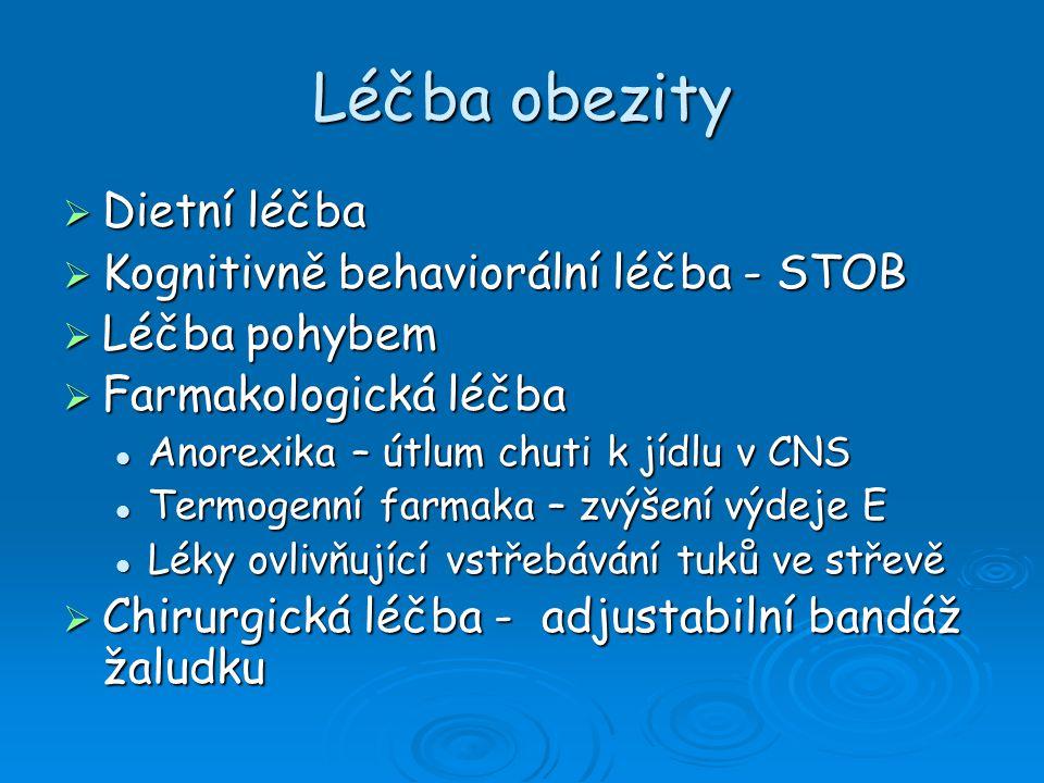 Léčba obezity Dietní léčba Kognitivně behaviorální léčba - STOB