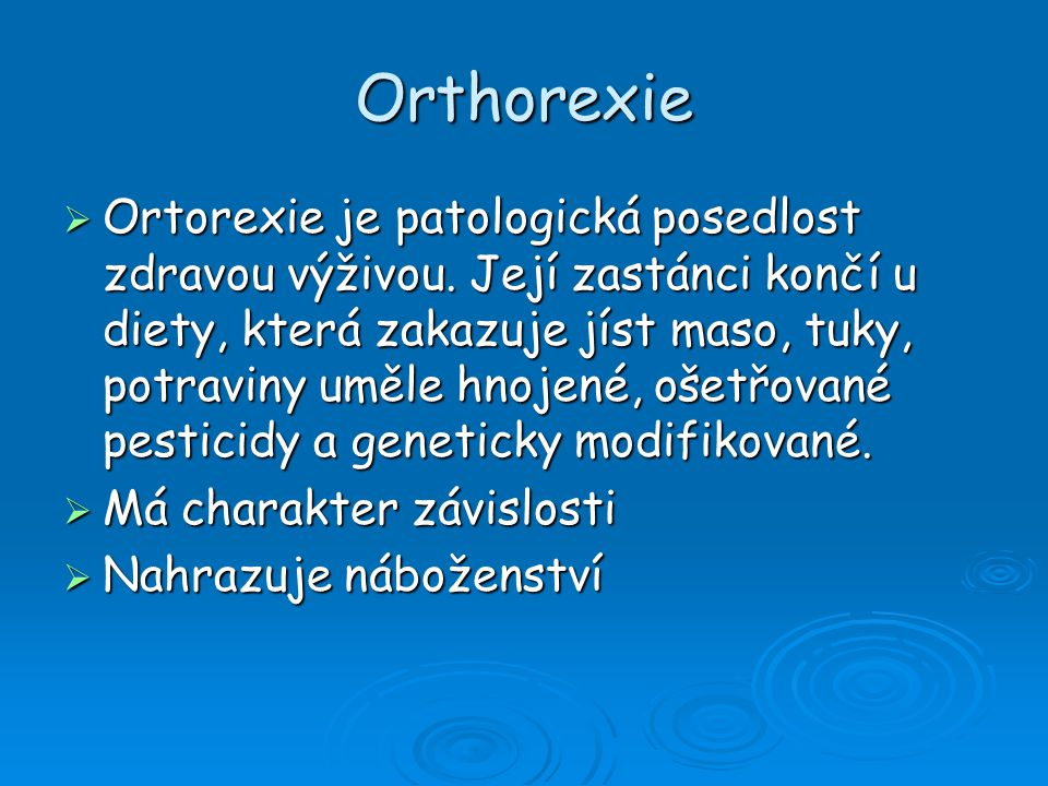 Orthorexie