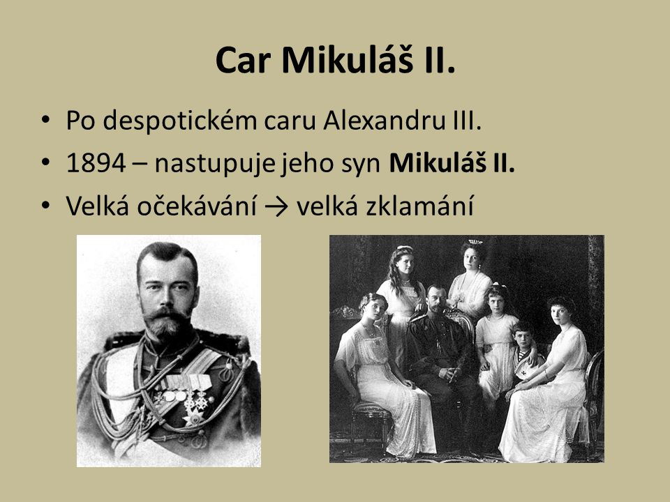 Car Mikuláš II. Po despotickém caru Alexandru III.