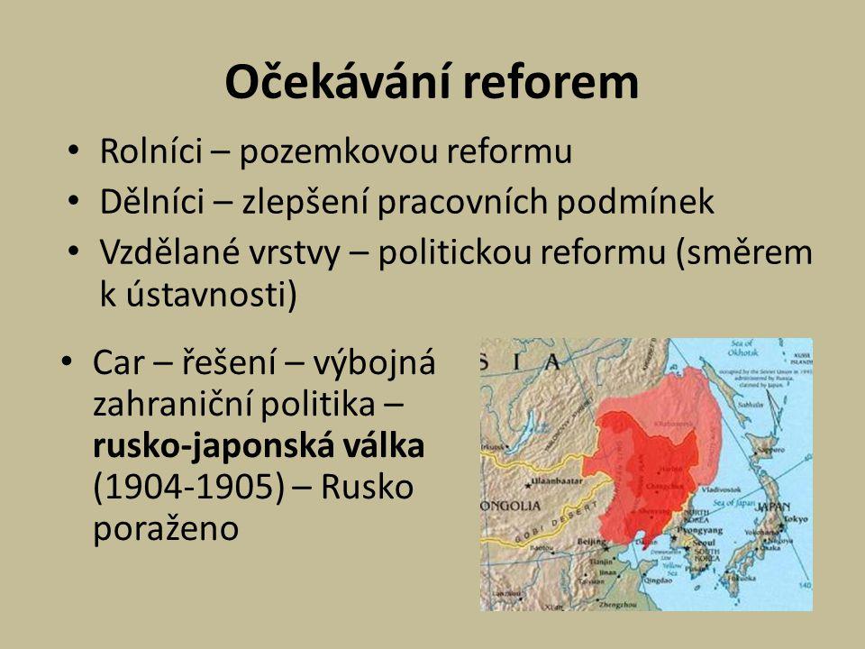 Očekávání reforem Rolníci – pozemkovou reformu