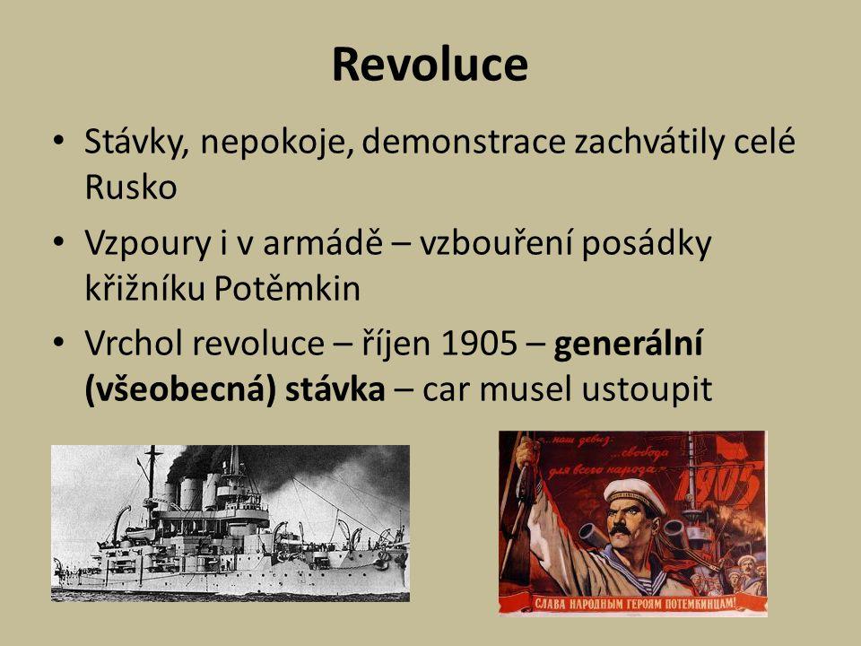 Revoluce Stávky, nepokoje, demonstrace zachvátily celé Rusko