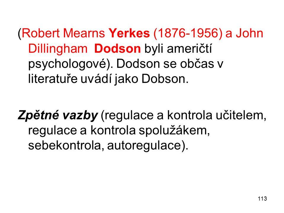 (Robert Mearns Yerkes (1876-1956) a John Dillingham Dodson byli američtí psychologové). Dodson se občas v literatuře uvádí jako Dobson.