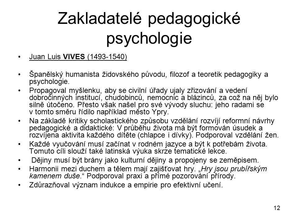 Zakladatelé pedagogické psychologie