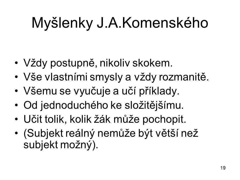 Myšlenky J.A.Komenského