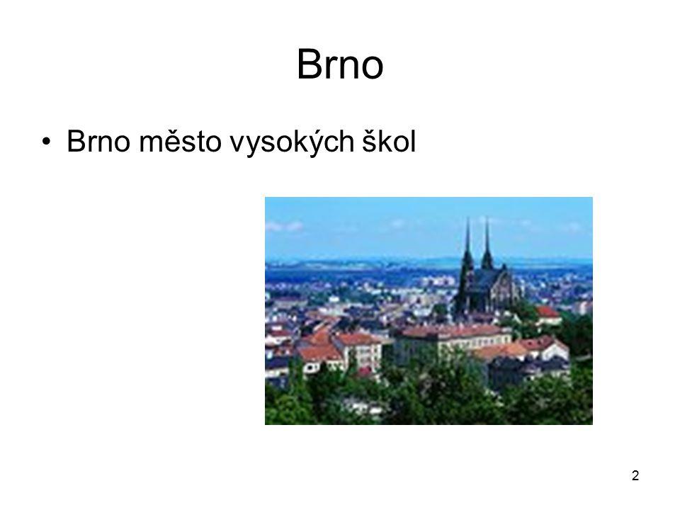 Brno Brno město vysokých škol
