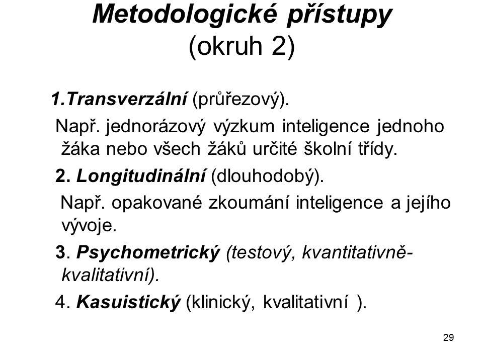 Metodologické přístupy (okruh 2)