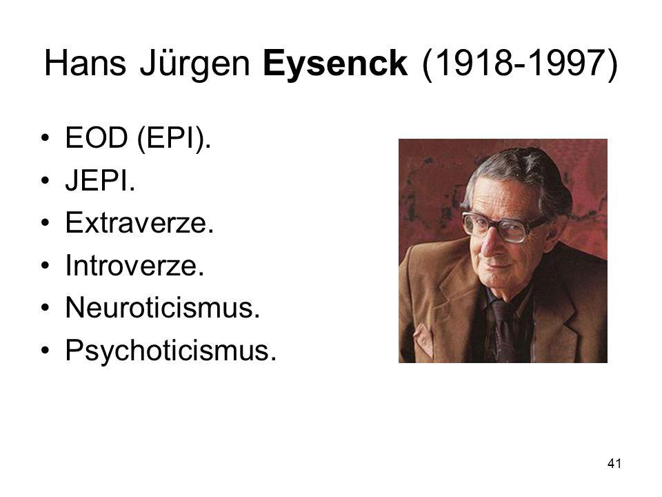 Hans Jürgen Eysenck (1918-1997)