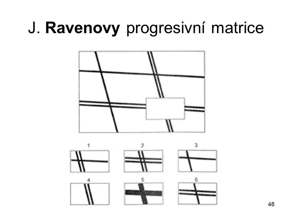 J. Ravenovy progresivní matrice