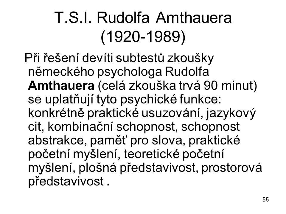 T.S.I. Rudolfa Amthauera (1920-1989)