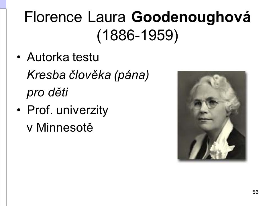 Florence Laura Goodenoughová (1886-1959)