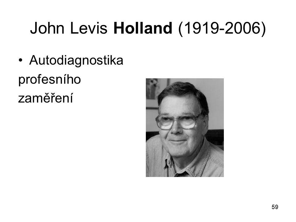 John Levis Holland (1919-2006) Autodiagnostika profesního zaměření