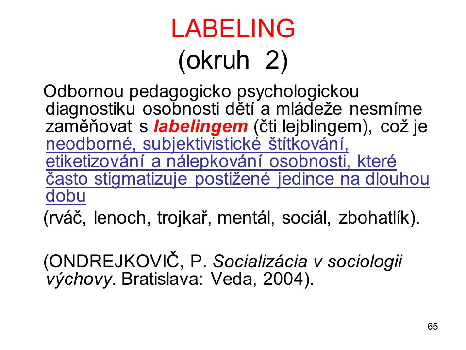LABELING (okruh 2)