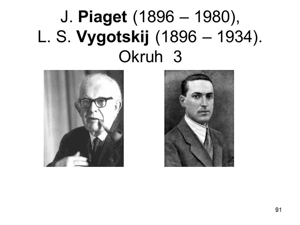 J. Piaget (1896 – 1980), L. S. Vygotskij (1896 – 1934). Okruh 3