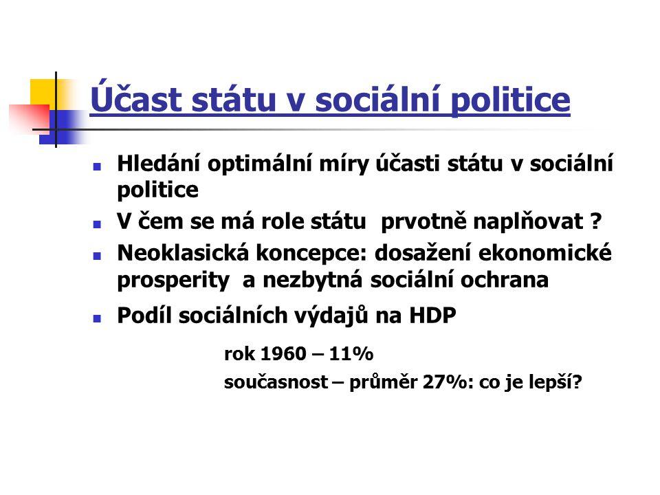 Účast státu v sociální politice