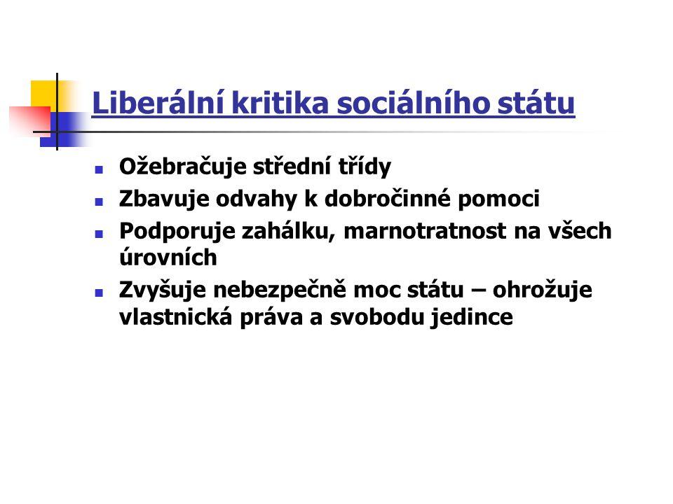 Liberální kritika sociálního státu