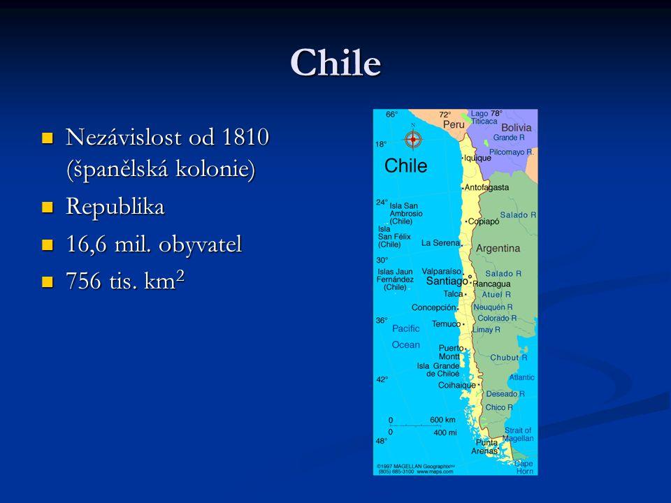 Chile Nezávislost od 1810 (španělská kolonie) Republika