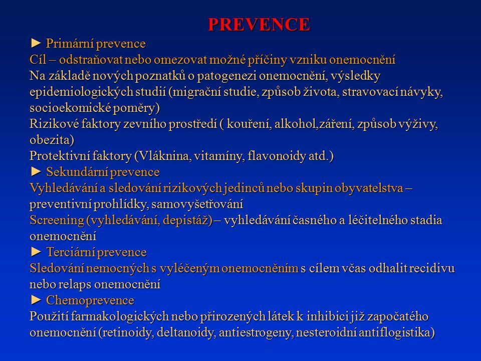 PREVENCE ► Primární prevence