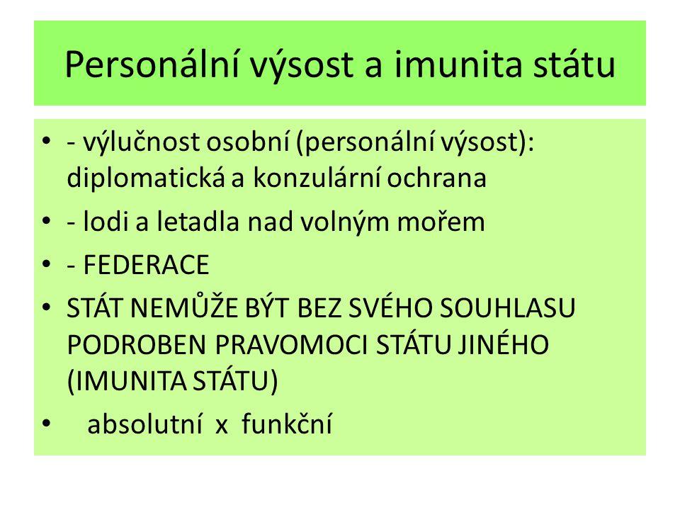 Personální výsost a imunita státu