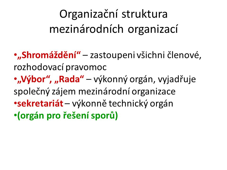 mezinárodních organizací